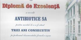 Diploma de excelenta Camera de Comert 2009 -3 ani consecutivi