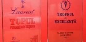 Laureat al topului Firmelor iesene si trofeu de excelenta 2011