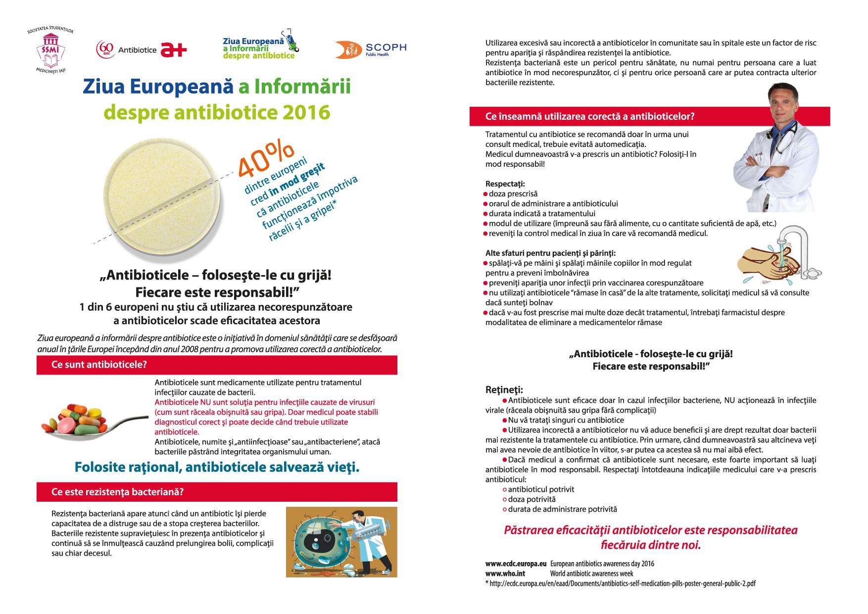 18.11 Ziua EU Info Antibiotice 2016 - leaflet