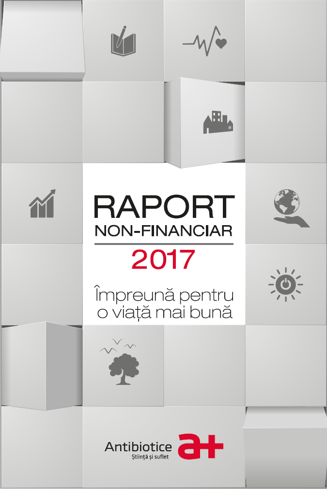 """ÎMPREUNĂ PENTRU O VIAȚĂ MAI BUNĂ"""" este conceptul prin care Antibiotice Iași lansează primul său raport nefinanciar pentru perioada 1 ianuarie - 31 decembrie 2017 RNF_2017il puteți citi aici."""