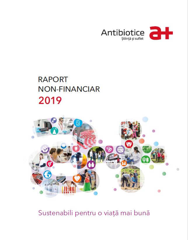 """Sub conceptul """"Sustenabili pentru o viata mai buna"""", compania Antibiotice face public in luna octombrie 2020 cel de-al treilea raport non-financiar, aferent perioadei 1ianuarie-31 decembrie 2019. RNF_2019 se gaseste aici"""